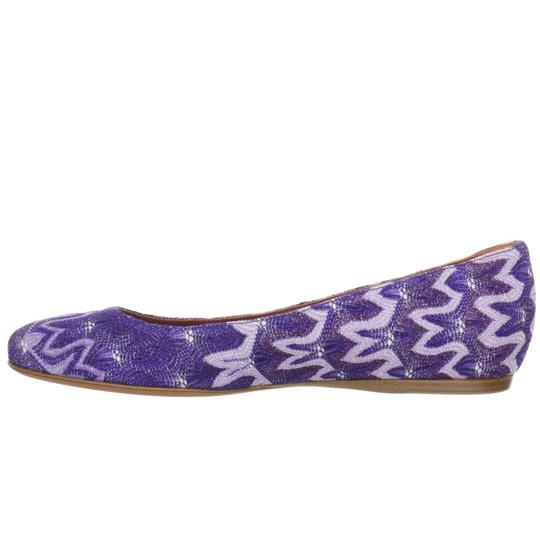 Missoni Ballet Ballerina Textured Luxury Purple Flats Image 4