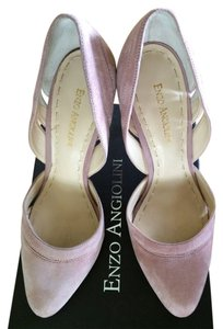 Enzo Angiolini Suede Cut-out dark pink Pumps