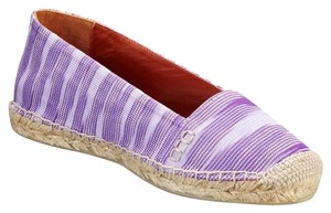 Missoni Espadrille Print Summer Luxury Canvas Purple Flats