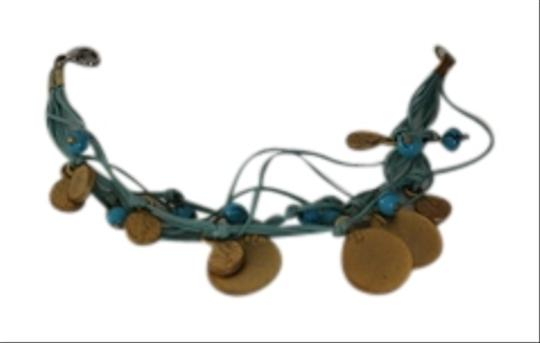Turkish Turquoise bracelet with Gold coins