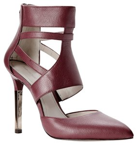 Pour La Victoire Leather Stiletto Pump Cutout Burgundy Pumps