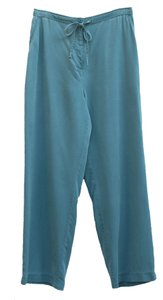 Jennifer Moore Fit Flowing Elastic Waist Relaxed Pants Blue