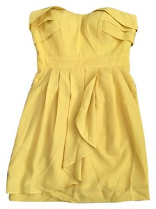 BCBGeneration short dress Yellow Strapless Bcbg on Tradesy