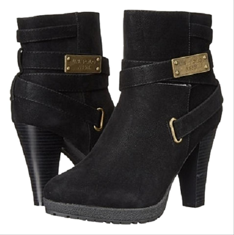 u s polo assn u s heather size 6b 10m black beige boots on sale 24 off boots booties. Black Bedroom Furniture Sets. Home Design Ideas