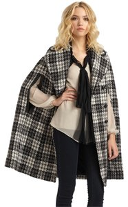 Robert Rodriguez Plaid Houndstooth Coat Jacket Cape