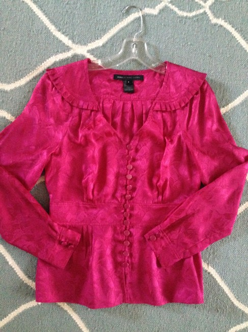 Marc by Marc Jacobs Silk Top Fuchsia