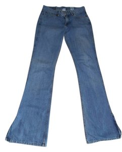 Lucky Me Lucky You Low Rise Flair Flare Leg Jeans-Light Wash
