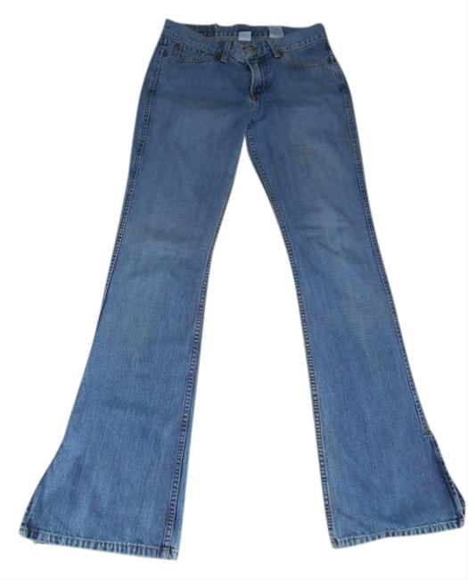 Preload https://item1.tradesy.com/images/blue-light-wash-flare-leg-jeans-size-28-4-s-717025-0-0.jpg?width=400&height=650