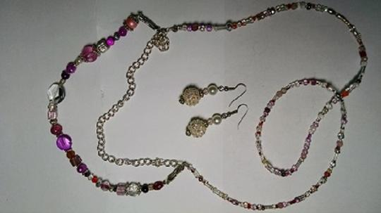 Other Handmaded Beaded Necklace & Earrings Set A008 Image 1