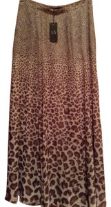 A|X Armani Exchange Maxi Skirt Brown