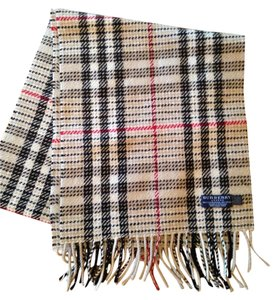 Burberry New Men's Beige Burberry scarf 60 in long