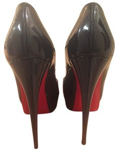 Christian Louboutin Patent Leather Navy Pumps