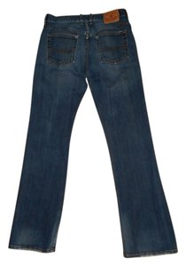 Lucky Me Lucky You Button Fly Distressed Dark Boot Cut Flare Leg Jeans-Dark Rinse