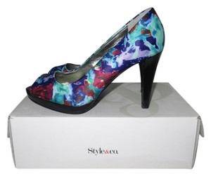 Style & Co Peep Toe Pump Party Formal Purple Magic, Multi-Color Pumps