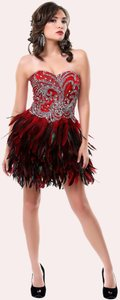 P.R.I.M.A. Glitz by Kari Chang Flapper Homecoming Winter Ball Holiday Party Sequin Ab Jeweled Feather Dress