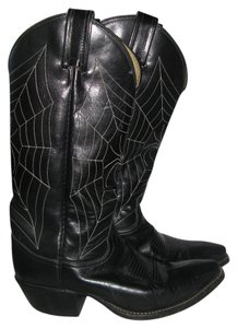 Tony Lama Halloween Spider Spider Web Black Boots