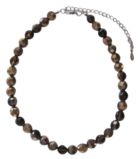 Preload https://item5.tradesy.com/images/esmor-shiney-light-brown-sparkling-many-facets-necklace-717184-0-0.jpg?width=440&height=440