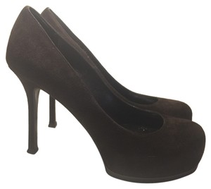 Saint Laurent Yves Tribute Brown Pumps