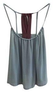 Mono B Top Teal & Brown