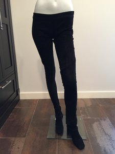 Mason by Michelle Mason Sold Out Everywhere Stretch Suede Excellent Condition Suede Black Leggings