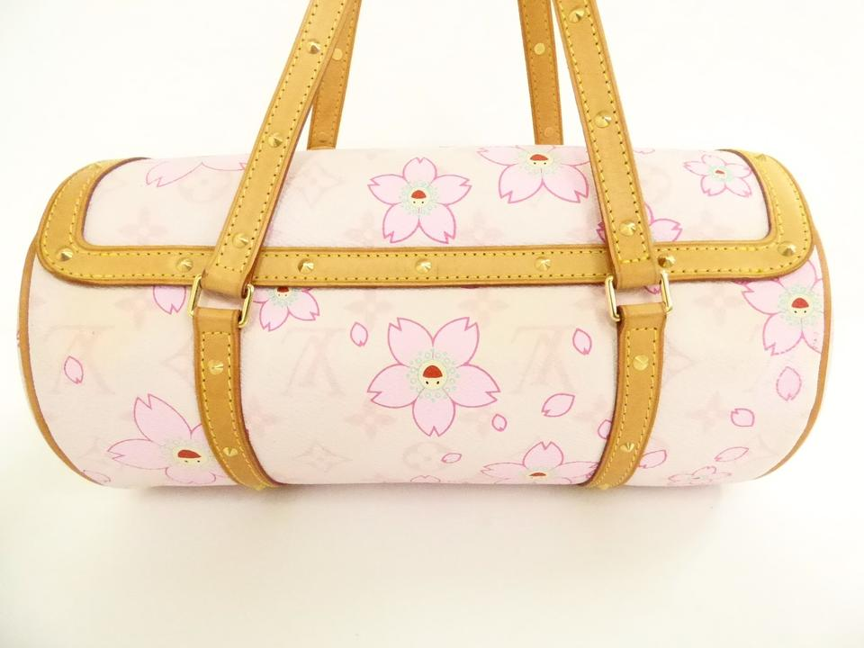 dddfab918ee2 Louis Vuitton Papillon Takashi Murakami Cherry Blossom Limited Edition  Barrel Tote in Rose