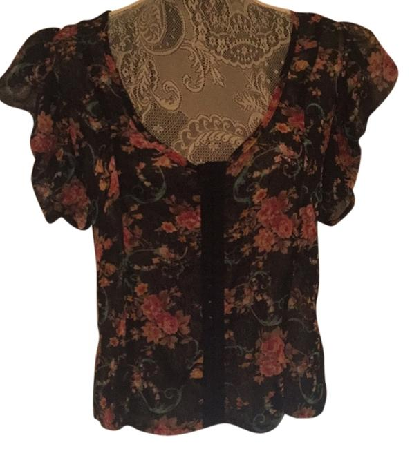 Item - Black/ Multi Color Top