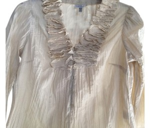 Harv Benard Ruffled Top Ivory