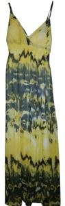 Yellow & Grey Maxi Dress by She's Cool