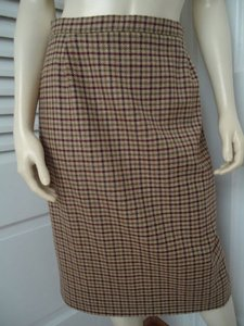 Other Punto Di Vista Straight Wool Cashmere Blend Plaid Lined Italy Chic Skirt Multi-Color