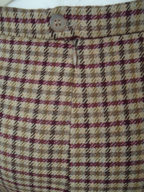 Other Punto Di Vista Straight Wool Cashmere Blend Plaid Lined Italy Chic Skirt Multi-Color Image 4