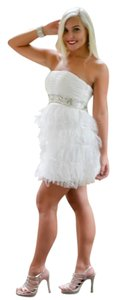 Kari Chang Couture Flapper Feather Vintage Dress