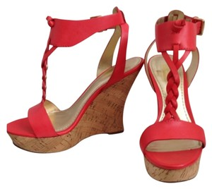 Belle by Sigerson Morrison Cork Braided Red Wedges