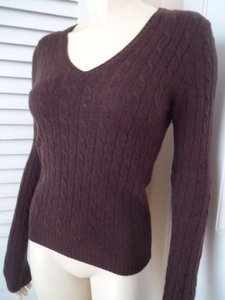 J.Crew Wool Cashmere Blend Cable Knit Classy Sweater
