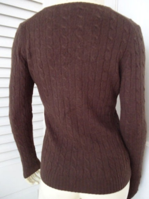 J.Crew Cashmere Blend Cable Knit Classy Sweater Image 4