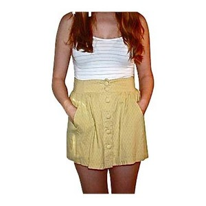 Forever 21 High Waisted Mini Skirt Yellow