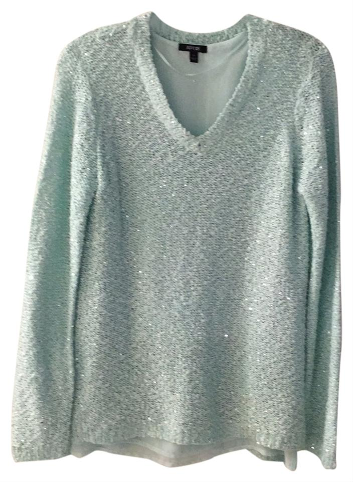 Apartment 9 Mint Green/Silver Sparkle Blouse Size 8 (M) - Tradesy