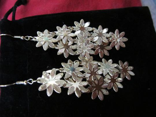 Other Fun and Flowery Gold Dangle Earrings!!! Very light weight so you can wear them all the time! GIFT IDEA! Image 2