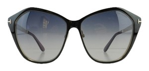 Tom Ford New Tom Ford TF 391 05B Black Gradient Metal Full-Frame Sunglasses 58mm Italy