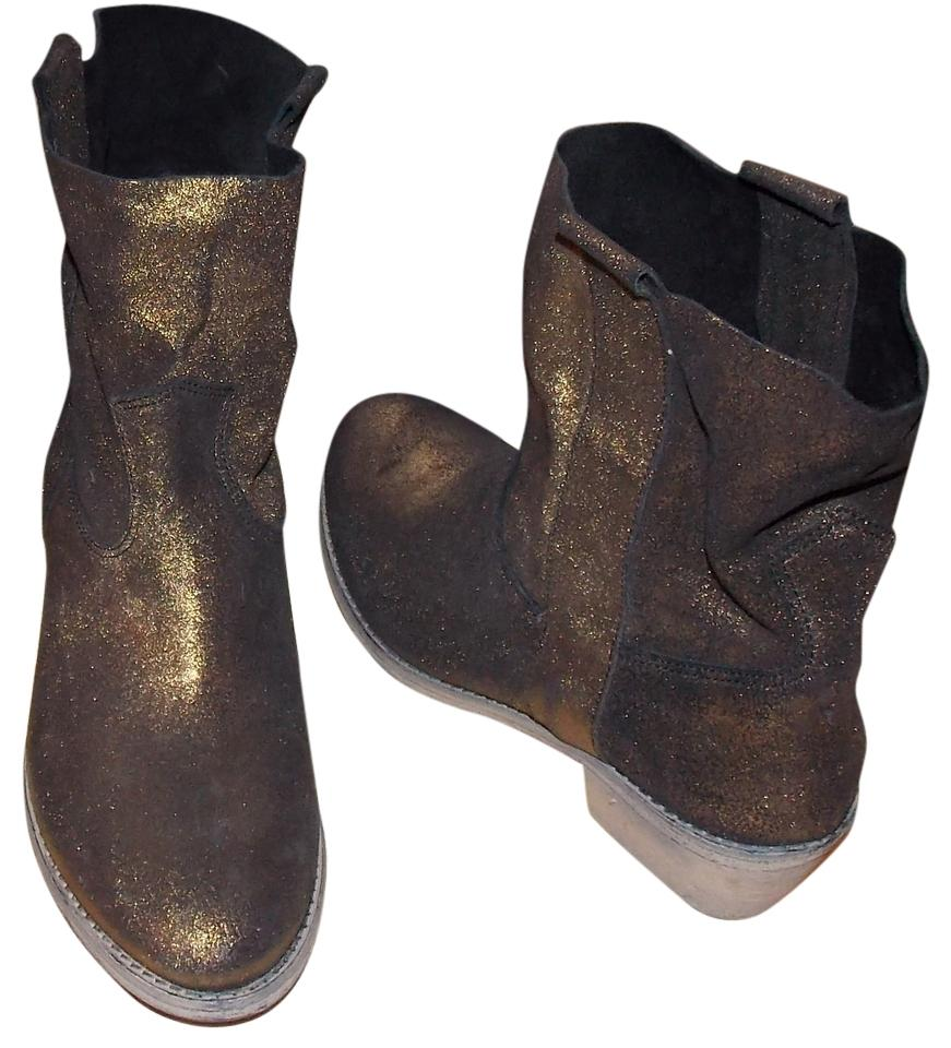 lady Charles David Sale Gold/Black Groove Boots/Booties Sale David online store d7ed69