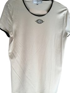 St. John Vintage T Shirt Cream with black