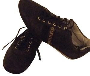 Bikkembergs Leather Brown with Gold Signature and accents Athletic