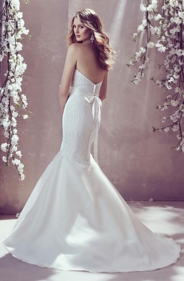 Mikaella Bridal Pearl Lace and Organza Gown Re-embroidered 1807 ...