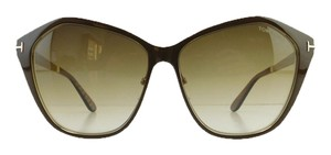 Tom Ford New Tom Ford TF 391 48F Lena Brown Gradient Metal Full-Frame Sunglasses 58mm Italy
