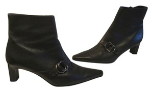 Paul Green Lining Black leather handmade ankle Boots