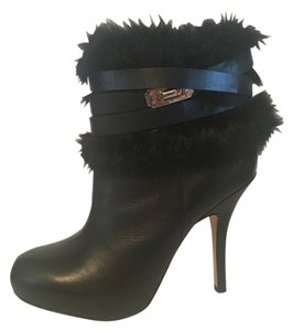 Coach Turnlock Bootie Pumps Black Boots
