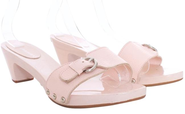 Item - Pink Kitten Heel Mules/Slides Size US 5 Regular (M, B)