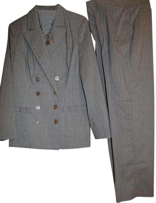 Item - Gray Double Breasted Pant Suit Size 12 (L)