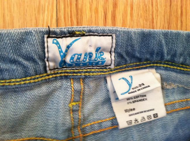 Other Yank Small Fitted Light Wash Boot Cut Jeans-Light Wash
