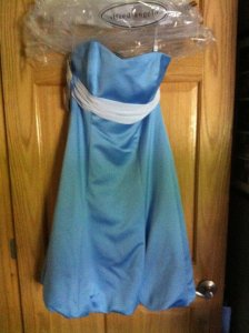 Alfred Angelo Blue Other 6453 Jay Formal Bridesmaid/Mob Dress Size 6 (S)