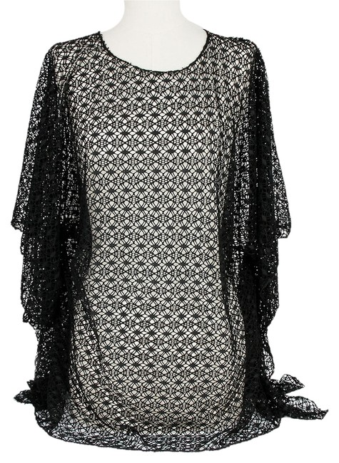 Preload https://img-static.tradesy.com/item/7177846/black-multiwear-netted-summer-blouse-beach-wear-cover-up-ponchocape-size-os-one-size-0-0-650-650.jpg